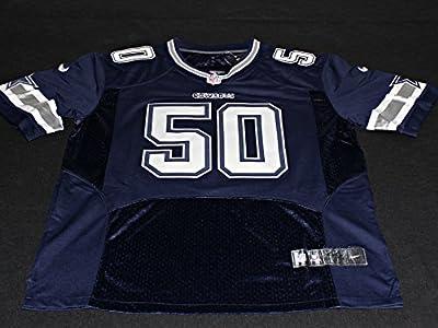 "SEAN LEE Signed ""Americas Team"" Dallas Cowboys Blue Jersey Autograph PSA / DNA Size 44"