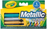 Crayola 5 Metallic Markers - Rotulador (Bullet, Multi, Alrededor, Multi, Cardboard box, Boy/Girl)