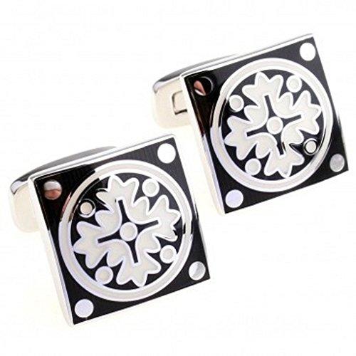 BigMind Cufflinks For Men Or Women Designs TZG01781 Enamel Cufflink 1 Pair
