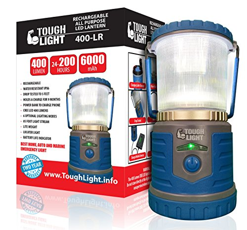Tough Light LED Rechargeable Lantern - 200 Hours of Light From a Single Charge, Longest Lasting on Amazon! Camping and Emergency Light with Phone Charger - 2 Year Warranty (Propane Lantern Mini compare prices)