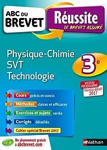 """Afficher """"Physique chimie, SVT, technologie 3e"""""""