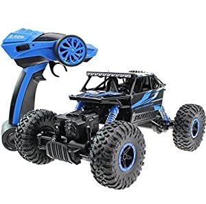 Hugine 2.4Ghz RC Rock Crawler 4 WD Monster Truck Off-Road Vehicle Toy Blue