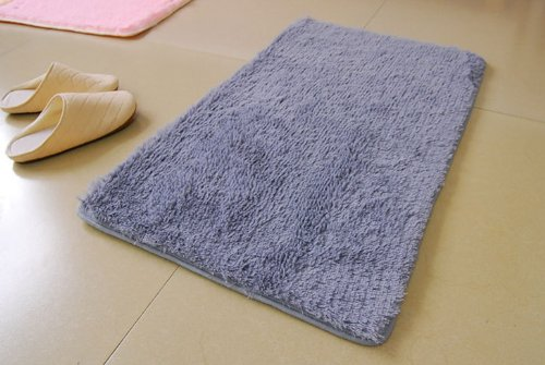 Domire Floor Cushion Mat Pad Bedroom Kitchen Bathroom Decoration Rug Carpet (Gray)