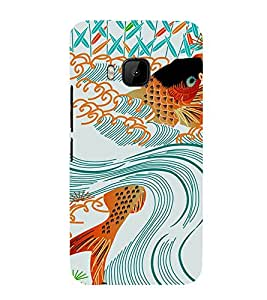 EPICCASE Gold Fish in Swirl Mobile Back Case Cover For HTC One M9 (Designer Case)