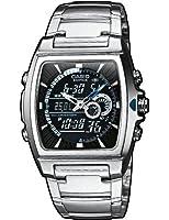 Casio - EFA-120D-1A - Edifice - Montre Homme - Quartz Analogique - Digital - Cadran Noir - Bracelet Acier Gris