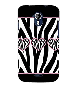 PrintDhaba Hearts D-1306 Back Case Cover for MICROMAX A116 CANVAS HD (Multi-Coloured)