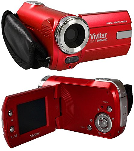 Ultra Compact Camcorder Vivitar DVR508NHD 5 Megapixel Digital Video Camcorder / Digital Camera - Red