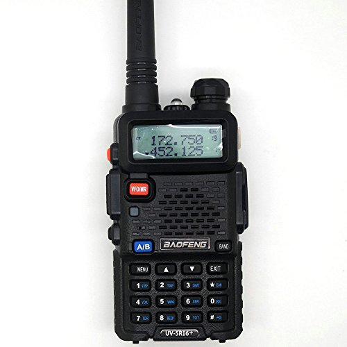 BaoFeng UV-5R I6+ Dual-Band 136-174/400-480 MHz FM Ham Two-Way Radio Enhanced Features Black