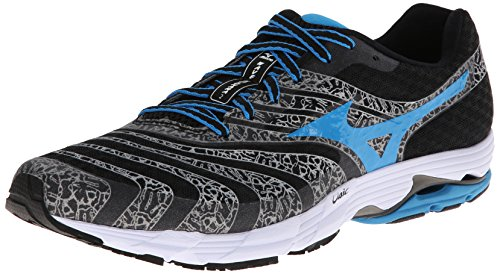 Mizuno Men's Wave Sayonara 2 Running Shoe,Black/Dude Blue/White,13 M US