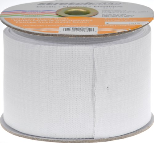 Stretchrite 3-Inch by 10-Yard White Heavy Stretch Knit Elastic Spool (Wide Elastic For Sewing compare prices)