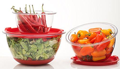 Sagler Set of 3 Mixing Bowls with lids