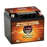 VMAXTANKS MR86-50 50ah AGM Hi Performance Battery for High Degree Easy Jet Mc101a Navigator Mc501r Robot Jet Mc101r and 18-50ah Minn Kota Cobra Sevylor and Other Trolling Motors