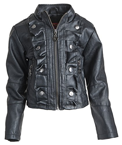 Dollhouse Big Girls Leather Look Spring Moto Jacket