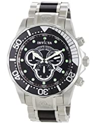 Invicta Men's 0858 II Collection Chronograph Black Wood and Stainless Steel Watch