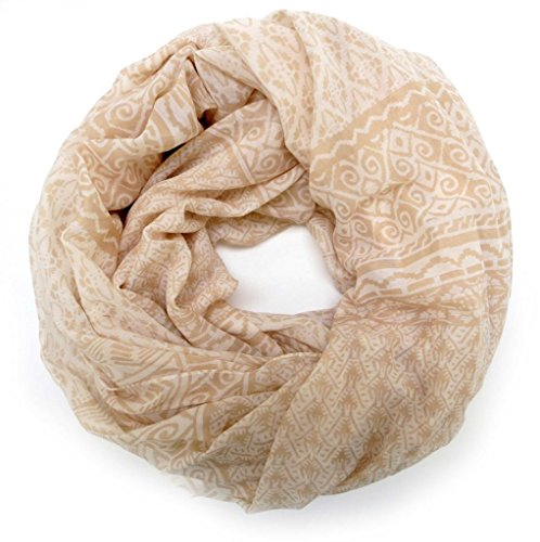 accessu-Echarpe-Foulard-pour-Femme-Ethno-Ornament-Pattern-beigewhite