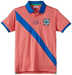 US Polo Association Boys Pink Polo Shirt (