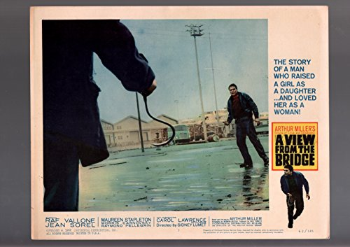 VIEW FROM THE BRIDGE-1962-LOBBY CARD-DRAMA-RAF VALLONE-STEVEDORE HOOKS-vg VG
