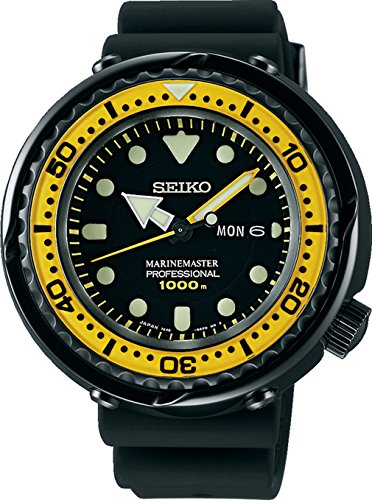 Seiko Mens PROSPEX Marinemaster He Gas Professional Diver Watch, SBBN027