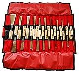 Stubai Bildhauereisen Rolltasche, 20-teilig, rot, 510220