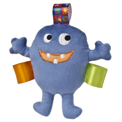 Taggies Max The Monster Plush Rattle, Blue front-550818