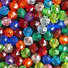 4mm Multi-Colored Faceted Beads 1000 Beads