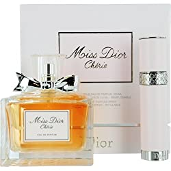Miss Dior Cherie Eau De Parfum Spray 3.4 Oz & Eau De Parfum Refillable Spray .25