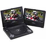 Audiovox D1788ES 7-Inch Portable DVD Player Package with Extra 7-Inch Screen
