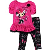 Disney Baby-girls Infant 2 Piece Mickey Print Pullover and Pant