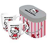 Paperproducts Design - Gift Set of 2 Mugs - Hello Kitty Nerd Design