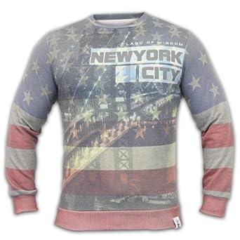 Men's Soul Star Sweatshirt AVENUE Navy Large