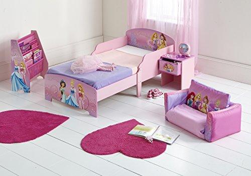 Worlds Apart 864234 Moderne Lit d'Enfant Toddler/Disney Princesses MDF Rose 59 x 77 x 145 cm