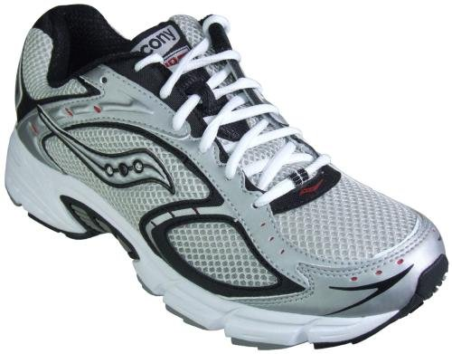 Men's Saucony, Progrid Apex running Sneakers SILVER BLACK RED 9 M