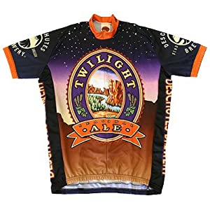 World Jersey's Twilight Amber Ale Short Sleeve Cycling Jersey (L)