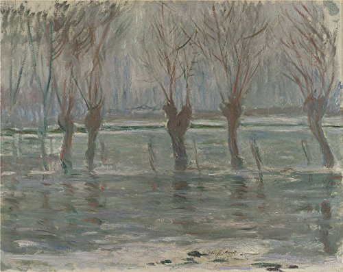 High Quality Polyster Canvas ,the Imitations Art DecorativePrints On Canvas Of Oil Painting 'Claude Oscar Monet Flood Waters ', 10 X 13 Inch / 25 X 32 Cm Is Best For Gym Artwork And Home Gallery Art And Gifts (Foundation Flood Vents compare prices)