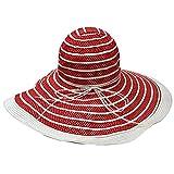 Luxury Divas Polka Dot Wide Brim Floppy Hat