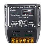 docooler ソーラー充放電コントローラー ラソーラーパネル バッテリーレギュレータ 安全保護 20A 12V/24V