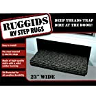 Ruggids RV Step Rug 23 All Weather Universal Fit RV Rug (Black)