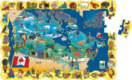 Cheap LEARNING JOURNEY Find It Canada Floor Puzzle (B000PA0384)