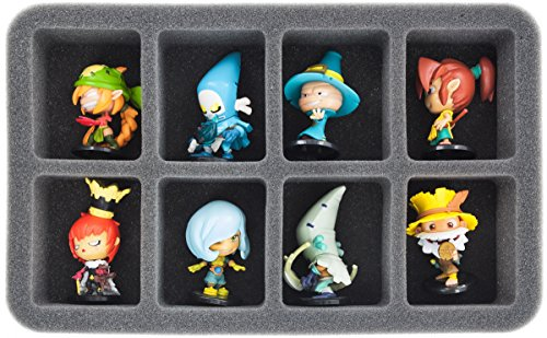 HS050KR01 50 mm (2 inch) half-size Figure Foam Tray for 8 large Krosmaster figures - 1
