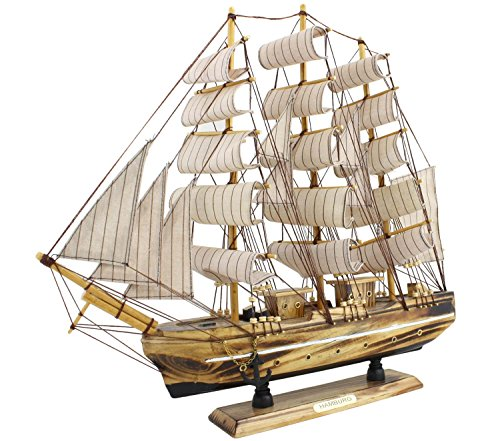 Sonia-Originelli-fertiges-Modellschiff-Segelschiff-Segelboot-Dekoration-DA037-Modell-3