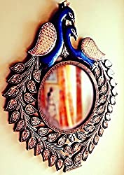 DDass Peacock Ethnic Rajasthani Wall Mirror for home