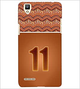 PrintDhaba Numerology Number 11 D-3644 Back Case Cover for OPPO F1 (Multi-Coloured)