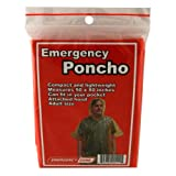 Emergency Poncho, Emergency Rain Gear, Weather Protection, Emergency Zone® Brand