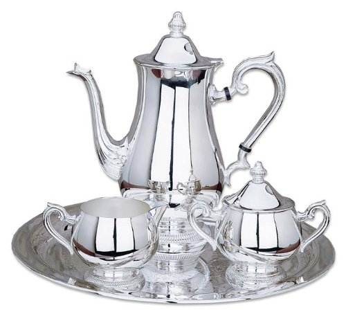 Reed & Barton Silver-Plated Gadroon Silver-Plated 4 Piece Coffee Set
