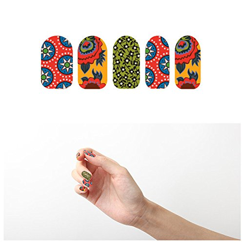 Tattify Floral Nail Wraps - Do it For the Vine (Set of 22)