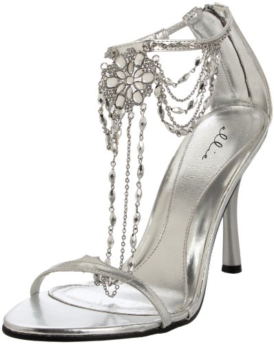 Ellie Shoes Women's 457-Harp Sandal,Silver,10 M US
