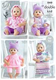 King Cole Dolls Clothes (Prem Baby) in DK Knitting Pattern 5000