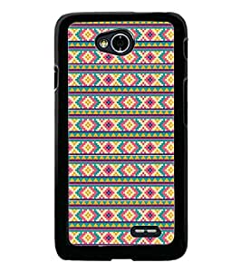 PrintDhaba Pattern D-5206 Back Case Cover for LG L70 (Multi-Coloured)