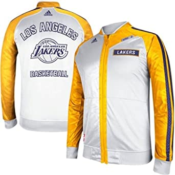 Los Angeles Lakers 2013 Adidas NBA On-Court Track Jacket L by adidas