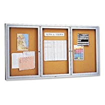 Hot Sale Quartet Enclosed Cork Indoor Bulletin Board, 6 x 3 Feet, Aluminum Frame (2366)